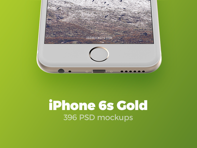 396 iPhone 6s Gold mockups