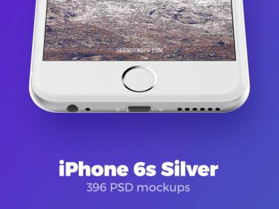 396 iPhone 6s Silver mockups presentation mockups mock-up psd template iphone 6s app design 360mockups silver iphone mockup