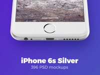 396 iPhone 6s Silver mockups