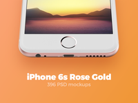 396 iPhone 6s Rose Gold mockups