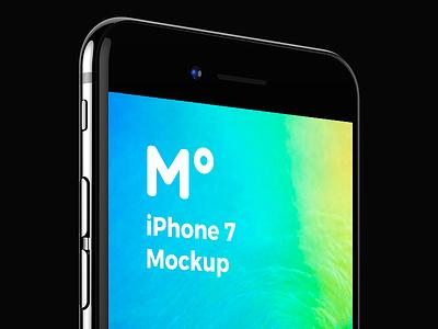 FREE iPhone 7 Jet Black mockup free jet black apple perspective psd template presentation app design 360mockups iphone 7 iphone mockup