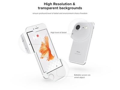 Free iPhone 7 Silver mockup dailyui sketch mockup iphone7 silver 360mockups app design presentation template psd perspective apple