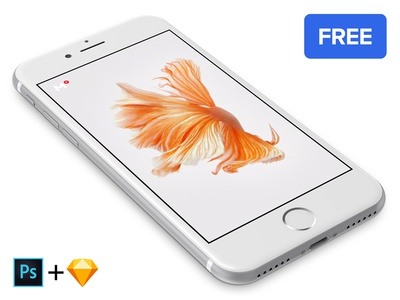 Free iPhone 7 Silver mockup
