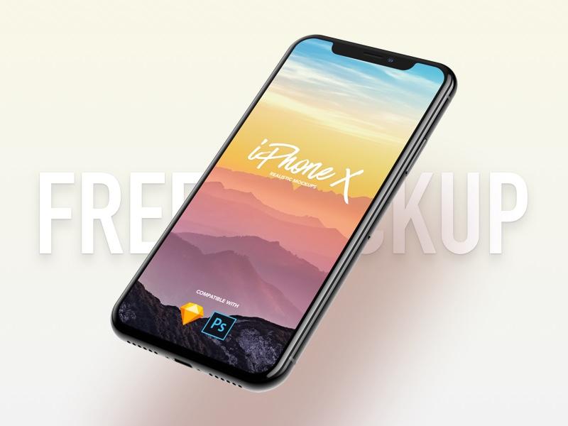 7 Most Popular iPhone X Mockups mockup ui ux template design presentation black red silver iphone 8 rose gold jet black