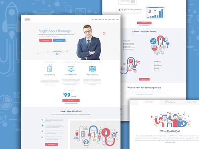 Design of marketing website