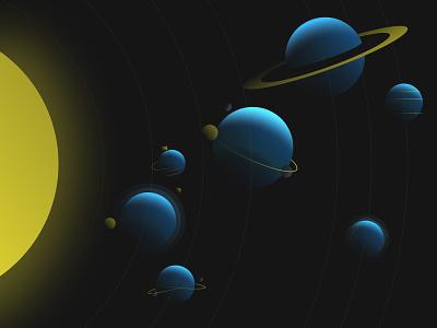 Nebulab's Universe website concept space website 3ddesign 3dart 3d jupiter mars planet space system solar gradients saturn universe planets nebulab illustration