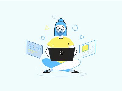 Development in Nebulab nebulab characters design illustration developer developement