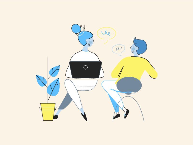 Nebulab Offices teammates office nebulab illustration characters design
