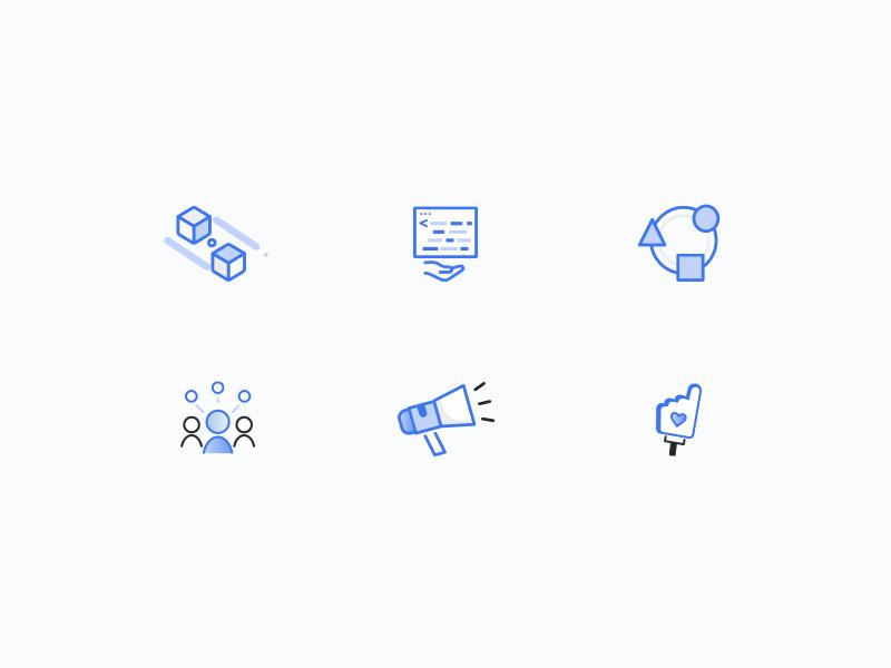 Solidus icon set 2