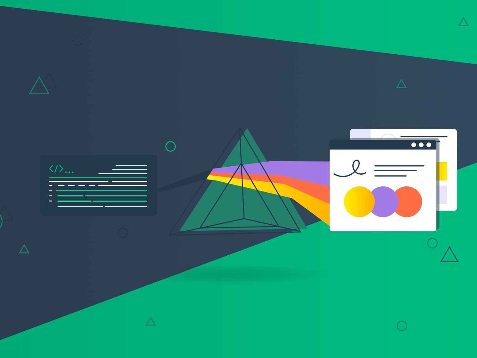 Create Nuxtjs Website Using Prismic For The Backend javascript prismic abstract backend blog post nebulab illustration