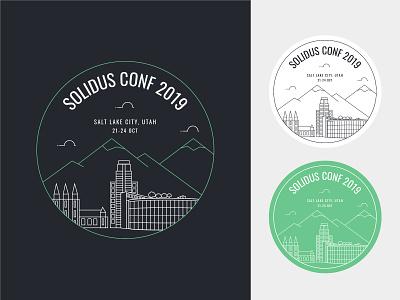 Solidus Conf 2019 • Salt Lake City solidus skyline salt lake city logo design ecommerce conferences
