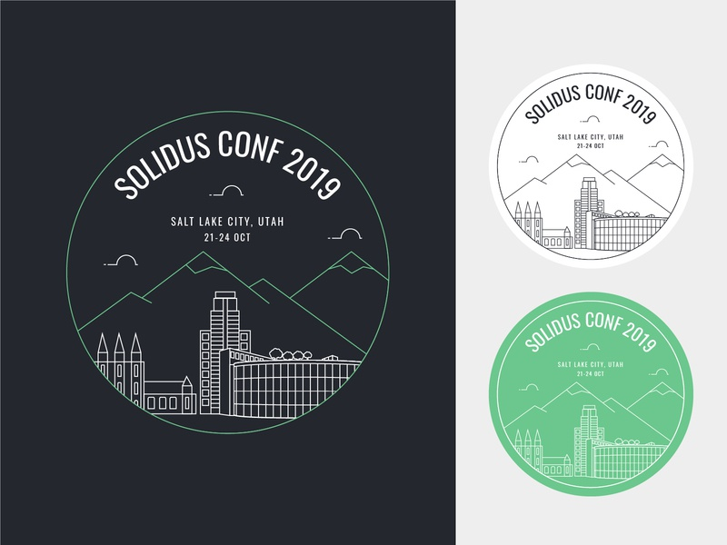 Solidus Conf 2019 • Salt Lake City solidus skyline salt lake city logo design ecommerce conferences