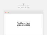 Roc Zhang's Blog Cover
