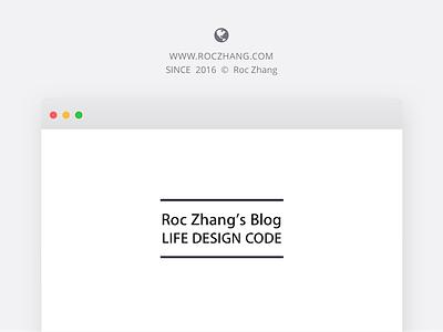 Roc Zhang's Blog Cover blog