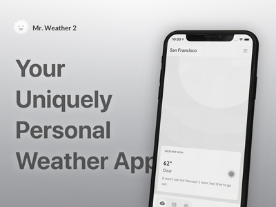 Introducing Mr. Weather 2 banner weather app weather mr. weather 2 mr. weather ios app design ios13 apple mockup ios app app design ios application app