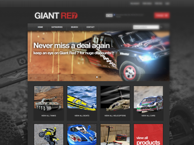 RC cars website homepage cars rc cars dark red