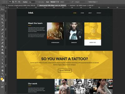 inkd. yellow tattoo parallax studio