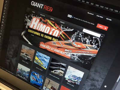 Giant Red 7 dark rc cars store homepage