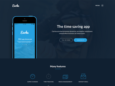 Web app landing page by Lee Grant - Dribbble