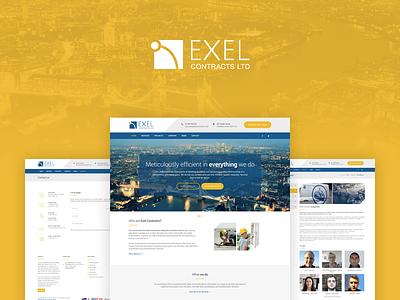 Exel Contracts Website london yellow maintenance building construction contractor