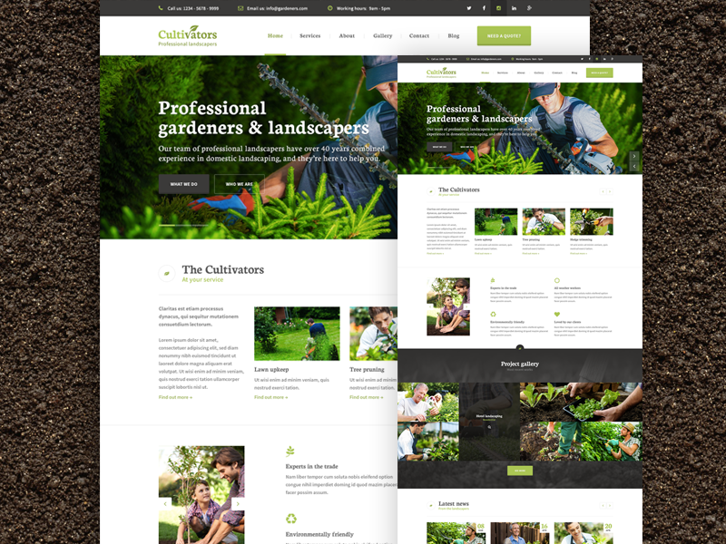 Cultivators Homepage landscaping nature gardener tree surgeon green gardening