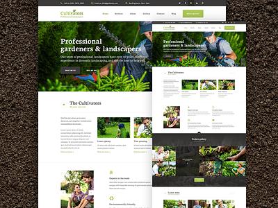 Cultivators Homepage landscaping nature gardener tree surgeon green gardening