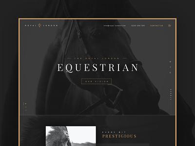 Equestrian sketchapp themeforest prestige equestrian stables horses gold black