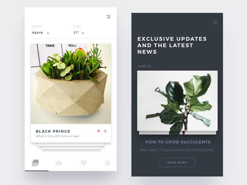 the Garden - Responsive website concept clean app web ux ui minimal design responsive