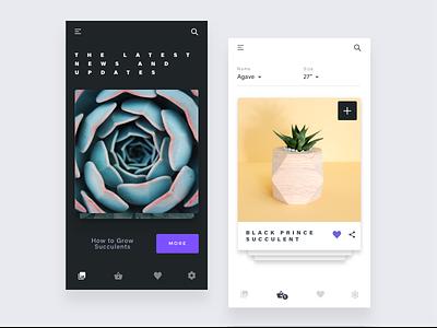 Garden project sketch uiux clean app design ios minimal minimalist simple