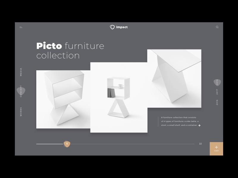 impact furniture shop uiux simple minimalist minimal commence design clean sketch