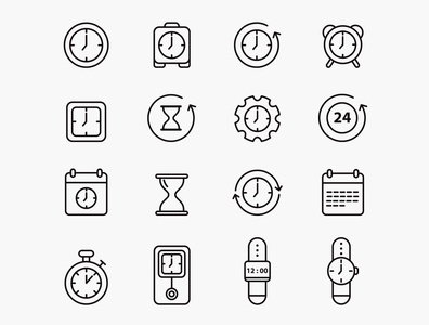 Time Vector Icons – Part 01