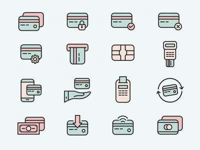 Credit Card Vector Icons illustrator ai download ai vector icon icons pack icon set icon design icon vector logo design logo card icon credit card vector credit card icon credit card download graphicpear freebie