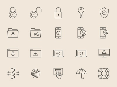25 Security Icons