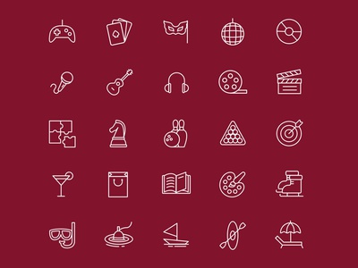Leisure & Entertainment Icons leisure ai download ai icons pack iconset vector icon vector icon download icon design icon entertaiment vector entertainment icon entertainment design free download logo illustration freebie graphicpear download