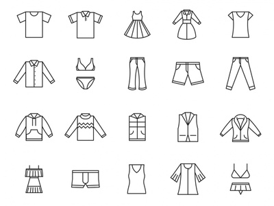 20 Clothing Vector Icons
