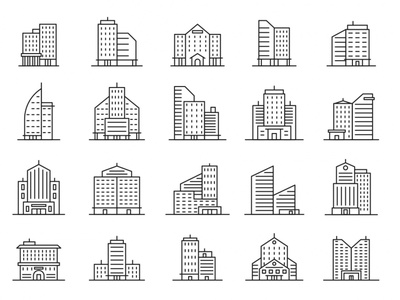 20 Building Vector Icons ai vector design vector download vector vector icon icon download icon design icon building symbol building logo building vector building icon building design logo illustration download free download graphicpear freebie