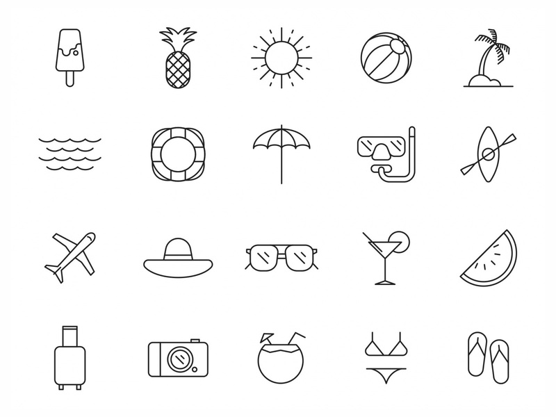 20 Summer Vector Icons symbol logo vector download vector design icon download icons pack icons set icon design vector icon summer symbol summer logo vector icon summer vector summer icon summer free download download graphicpear freebie