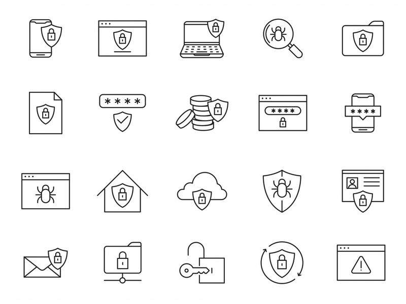 20 Security Vector Icons ai illustrator illustration symbol logo design logo vector download vector design icons download icons pack icons set icon design vector icon security vector security icon security graphicpear free download freebie download