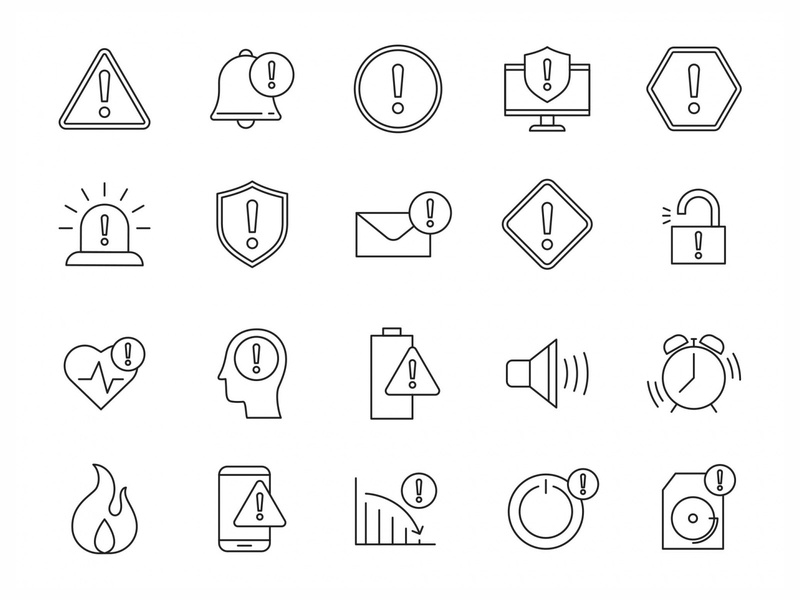 20 Alert Vector Icons ai illustrator illustration symbol logo design logo vector download vector design icons download icons pack icons set icon design vector icon alert vector alert icon alert free download graphicpear freebie download