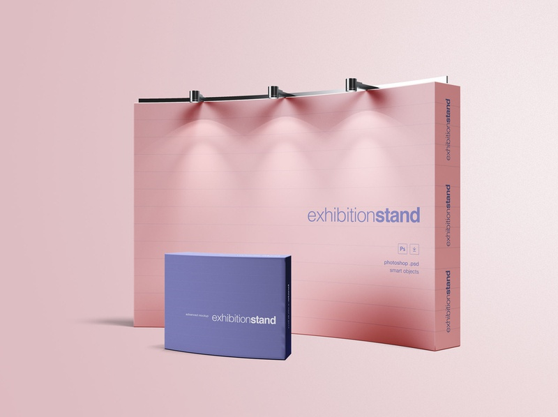 Simple Exhibition Stand Mockup photoshop product design print design branding package download package design package packaging mockup download mockup design package mockup mockup stand package stand mockup stand freebie download free download graphicpear