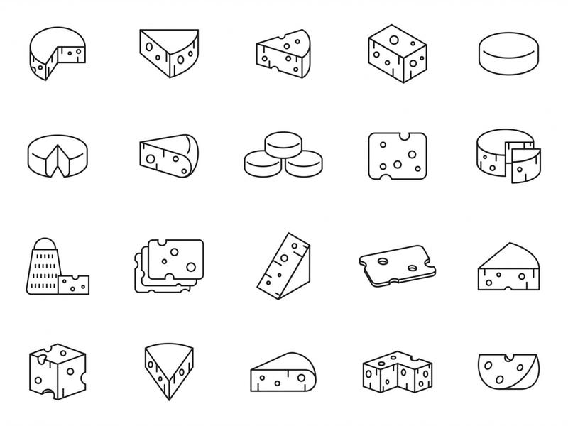20 Cheese Vector Icons ai illustrator illustration symbol logo design logo vector download vector design icons download icons pack icons set icon design vector icon cheese vector cheese icon cheese free download freebie download graphicpear