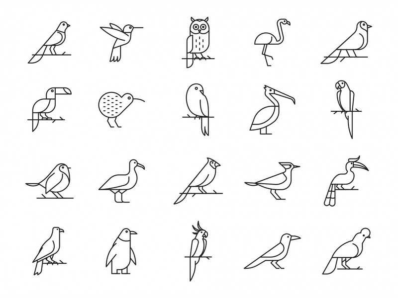 20 Bird Vector Icons ai vector ai illustrator illustration symbol logo design logo vector download vector design icons download icons pack icons set icon design vector icon bird vector bird icon bird freebie download graphicpear