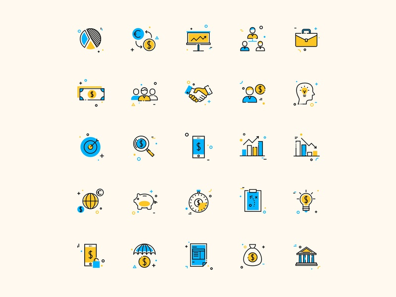 25 Corporate Business Colored Icons ai design ai vector ai illustrator illustration symbol logo design logo vector download vector design icons download icons pack icons set icon design vector icon corporate vector corporate icon business corporate
