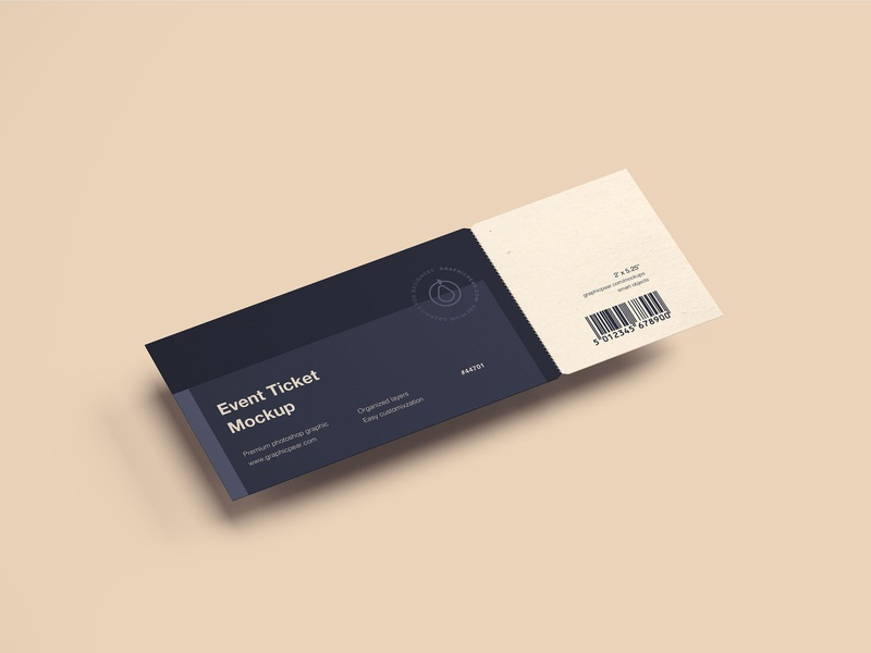 Simple Ticket Mockup psd download psd mockup psd photoshop product design print design branding package download package design package packaging mockup download mockup design package mockup mockup ticket mockup ticket free download graphicpear