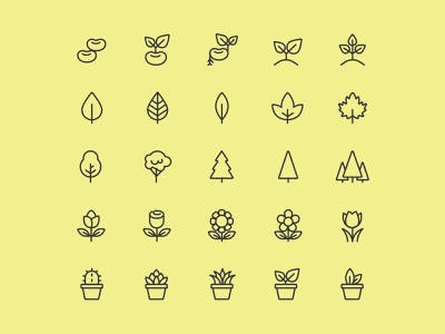 25 Line Plant Icons ai download ai design ai vector ai illustrator illustration symbol logo design logo vector download vector design icons download icons pack icons set icon design vector icon plant vector plant icon plant freebie