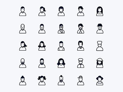 People and User Icons ai download ai design ai vector ai illustrator illustration symbol logo design logo vector download vector design icons download icons pack icons set icon design vector icon user vector user icon user