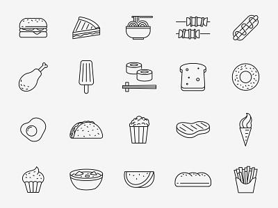 Food Vector Icons ai download ai design ai vector ai illustrator illustration symbol logo design logo vector download vector design icons download icons pack icons set icon design vector icon food vector food icon food