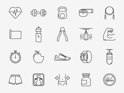 Fitness Vector Icons ai download ai design ai vector ai illustrator illustration symbol logo design logo vector download vector design icons download icons pack icons set icon design vector icon fitness vector fitness icon fitness