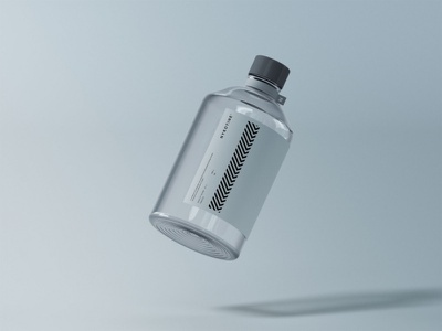 Clear Glass Medical Bottle Mockup psd package