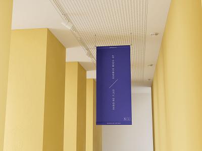 Hanging Flag Banner Mockup psd package